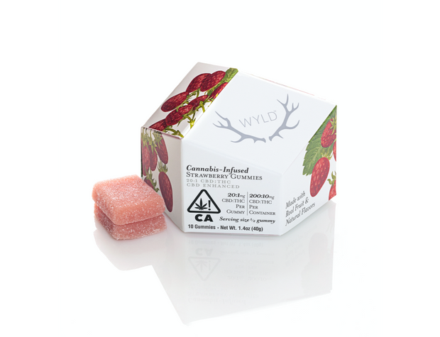 Wyld | CBD Strawberry Gummies 20:1