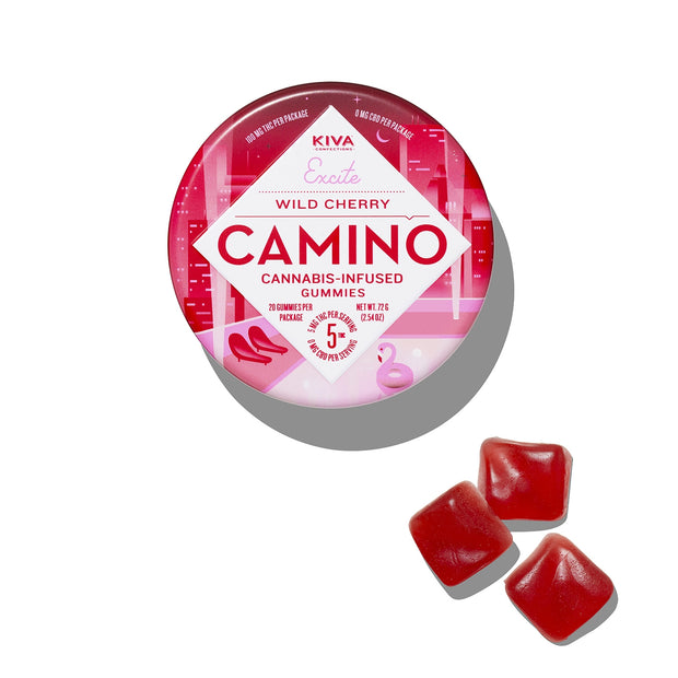 Kiva | Camino Wild Cherry Gummies | Excite