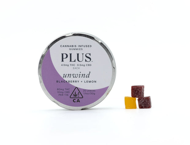 PLUS | Unwind Blackberry + Lemon Gummies