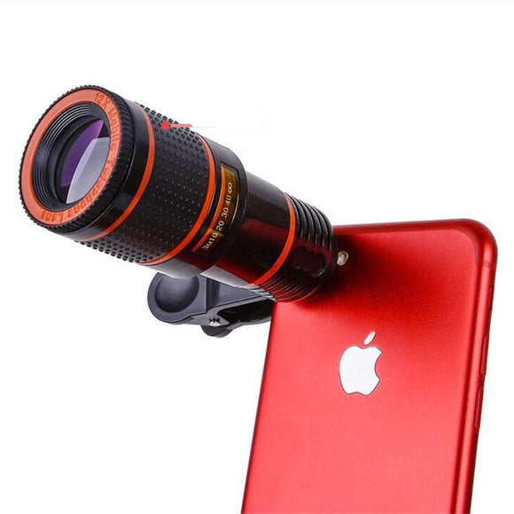 Universal Clip 8X 12X Zoom Phone Camera Lens
