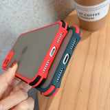 Camera Protection Shockproof Bumper Phone Case For iPhone