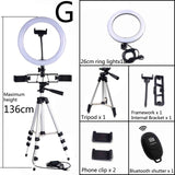 Dimmable LED Ring Light with Tripod Phone Holder