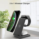 3 In 1 Fast Wireless Charger For iPhone, Apple Watch & Airpods