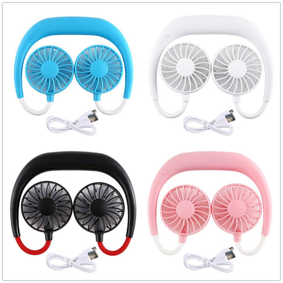 Rechargeable Hands-free Hanging Neck Fan