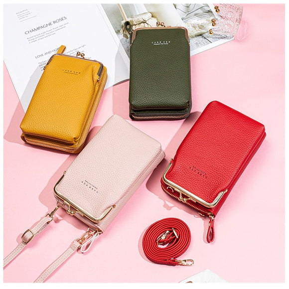 Women Solid Crossbody Phone Bag