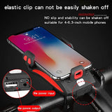 Mobile Phone Bracket with Bicycle Lights & Power Bank