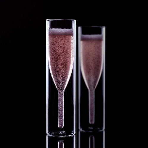 Double-walled Champagne Flutes 2PCS