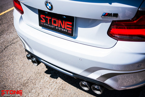 STONE Exhaust BMW S55 F87 M2 Competition Cat-Back Valvetronic Exhaust - ML Performance UK