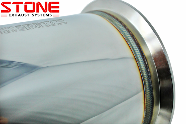 Stone Exhaust Mercedes-Benz M133 C/X117 W176 Eddy Catalytic Downpipie (Inc. A45 & CLA45/SB) | Stone Exhaust USA