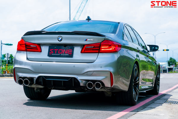 Stone Exhaust BMW S63M F90 M5 Cat-Back Valvetronic Exhaust System | Stone Exhaust USA