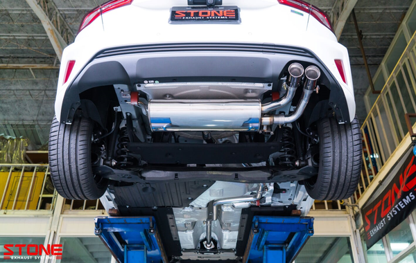 Stone Exhaust Ford MK4 Focus 1.5T Vavletronic Catback Exhaust System (Single Exit (Right) with Twin Tailpipes) | Stone Exhaust USA