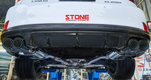 Stone Exhaust Lexus 8AR-FTS XE30 IS 200T/300 Cat-Back Valvetronic Exhaust System   Stone Exhaust USA