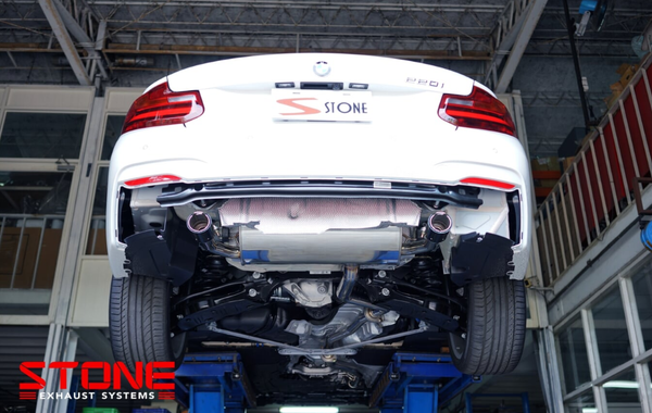 Stone Exhaust BMW N20 F22 F23 220i Cat-Back Valvetronic Exhaust    Stone Exhaust USA