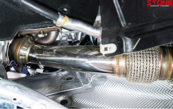 Stone Exhaust BMW B48 G20 G30 G31 Catless Downpipe (330i, 520i & 530i) | Stone Exhaust USA