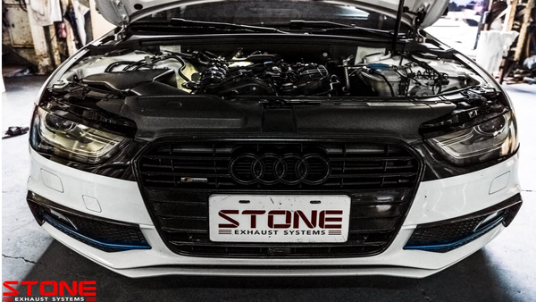 Stone Exhaust AUDI EA888 B9 Eddy Catalytic Downpipie (Inc. A4 40 TFSI & A5 40 TFSI) | Stone Exhaust USA