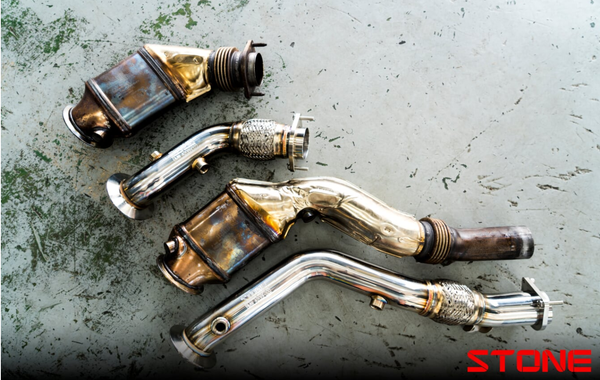 Stone Exhaust BMW S55 F80 F82 F87 Catless Downpipe (M2 Competition, M3 & M4) | Stone Exhaust USA