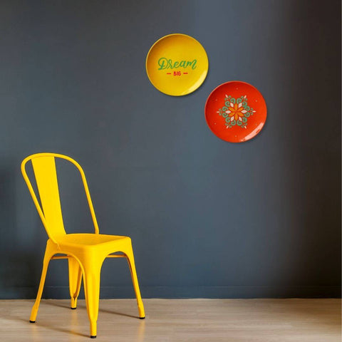 Wall Plates by Yellow Chair
