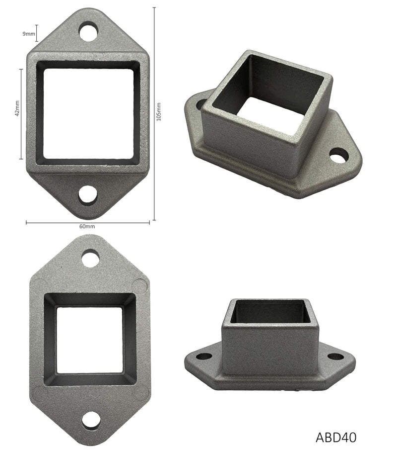 Aluminium double sided bracket for square sections