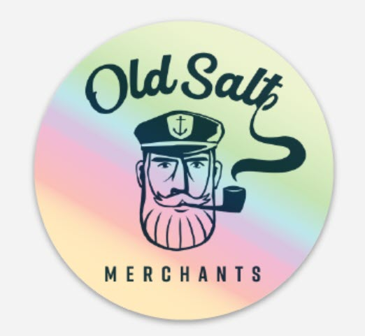 Old Salt Merchants Circular Die Cut Sticker