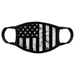 B&W Distressed American Flag