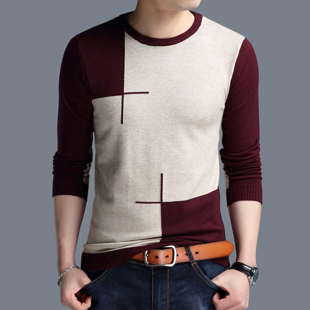 O-Neck Slim Fit Knittwear Mens Sweaters Pullovers