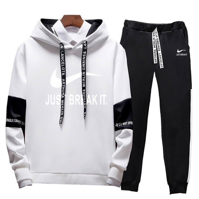 Men tracksuit Hoodies Two Piece +Pants Sport