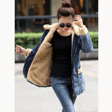 Denim Lamb Vintage Pocket Cotton Jeans Jacket