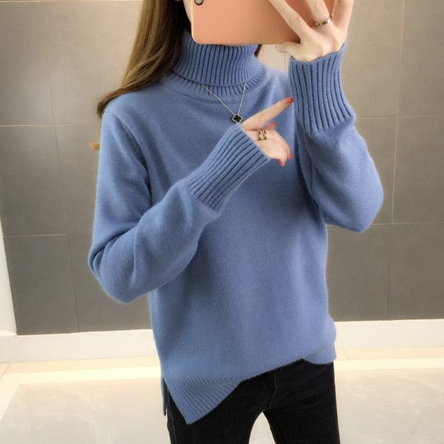 Long Sleeve Knitted Bottom Sweater