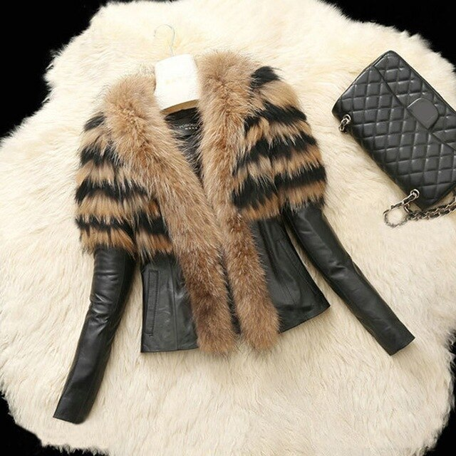 Fluffy Faux Raccoon Fur Jacket