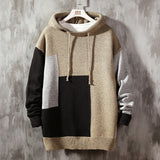 Casual O-Neck Patchwork With HOODED Sweater