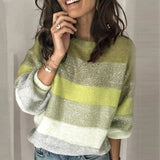 Glitter Patchwork Striped  Sweater