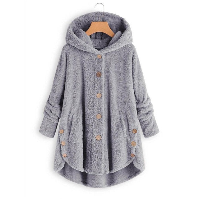 Soft Button Pocket Overcoat Jacket