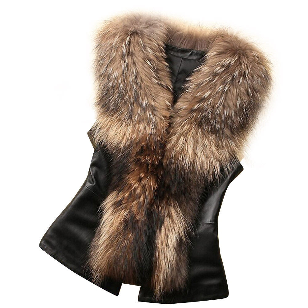 Faux Fur Vest Jacket