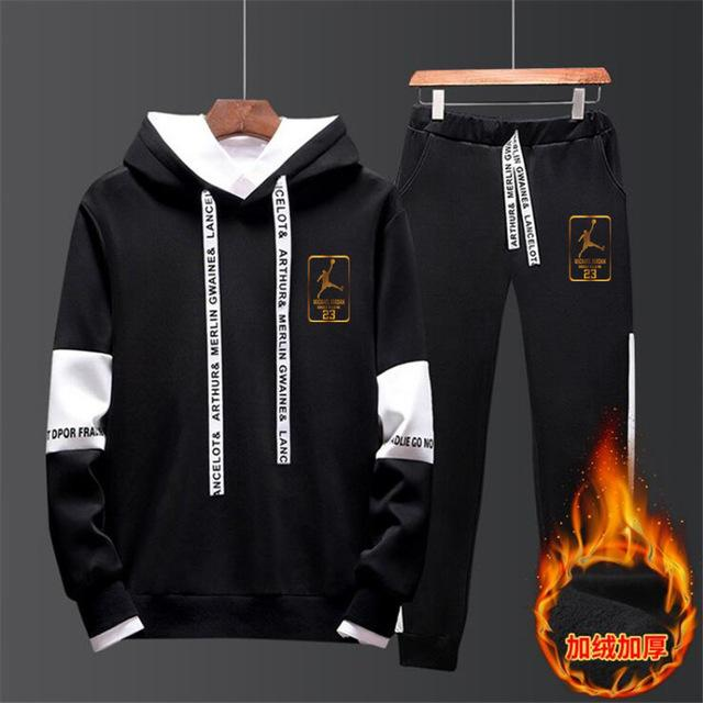JORDAN 23 Cotton Fleece Thick hoodie+Pants Sporting Suit