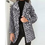 Leopard Winter Warm Faux Fur Outwear Jacket