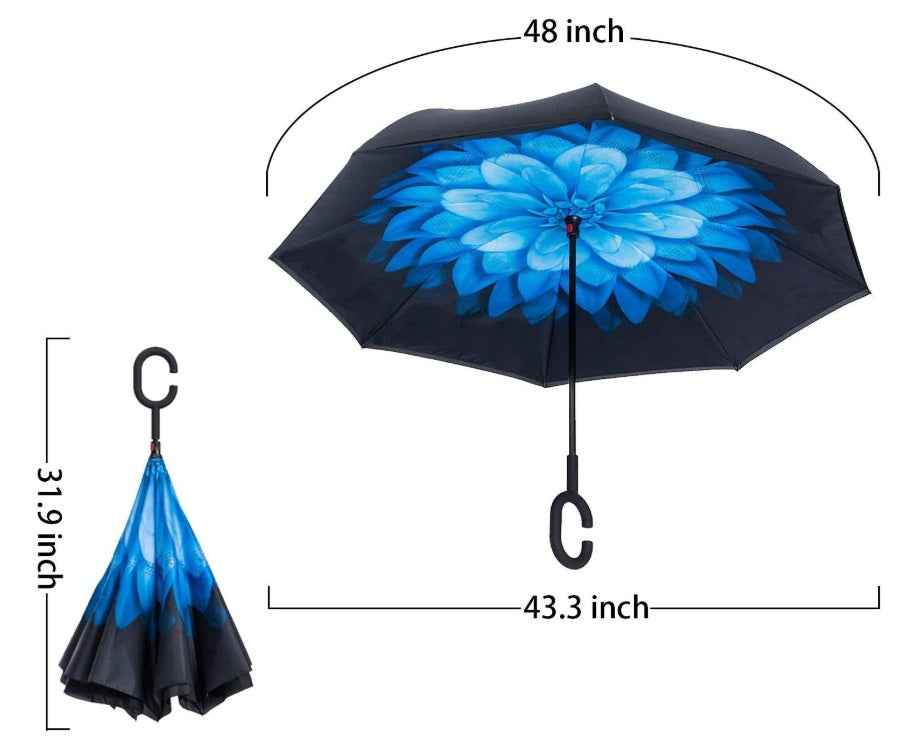 C-Umbrella (Purple Daisy)