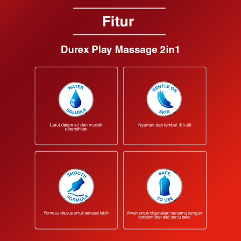 Jual Durex Play Massage 2-In-1 Bottle Lubricant Terlengkap