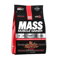 Gambar Elitelabs Mass Muscle Gainer Chocolate - 20 LB Jenis Suplemen Fitnes