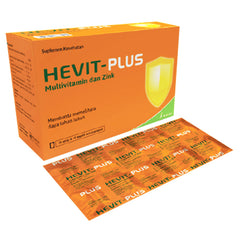 Hevit Plus Multivitamin & Zink - 10 Kaplet | 10 Strip