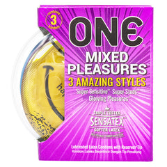 ONE® Kondom Mixed Pleasures - 3 Pcs
