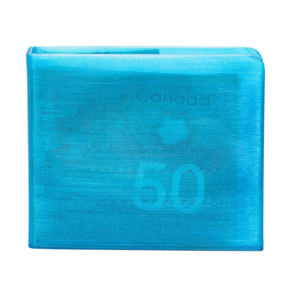 Transparent Blue 3D Printed Wallet-Wallet-KEN3D