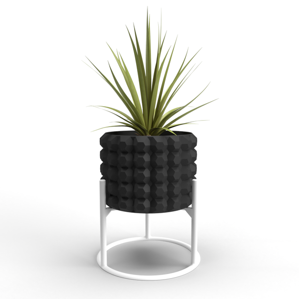 "Octagonal Small 3"" Planter + Support"