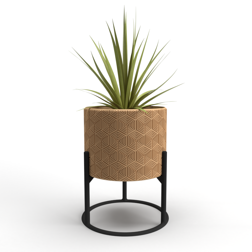 "Hexa-Beauty Large 7"" Planter + Support"