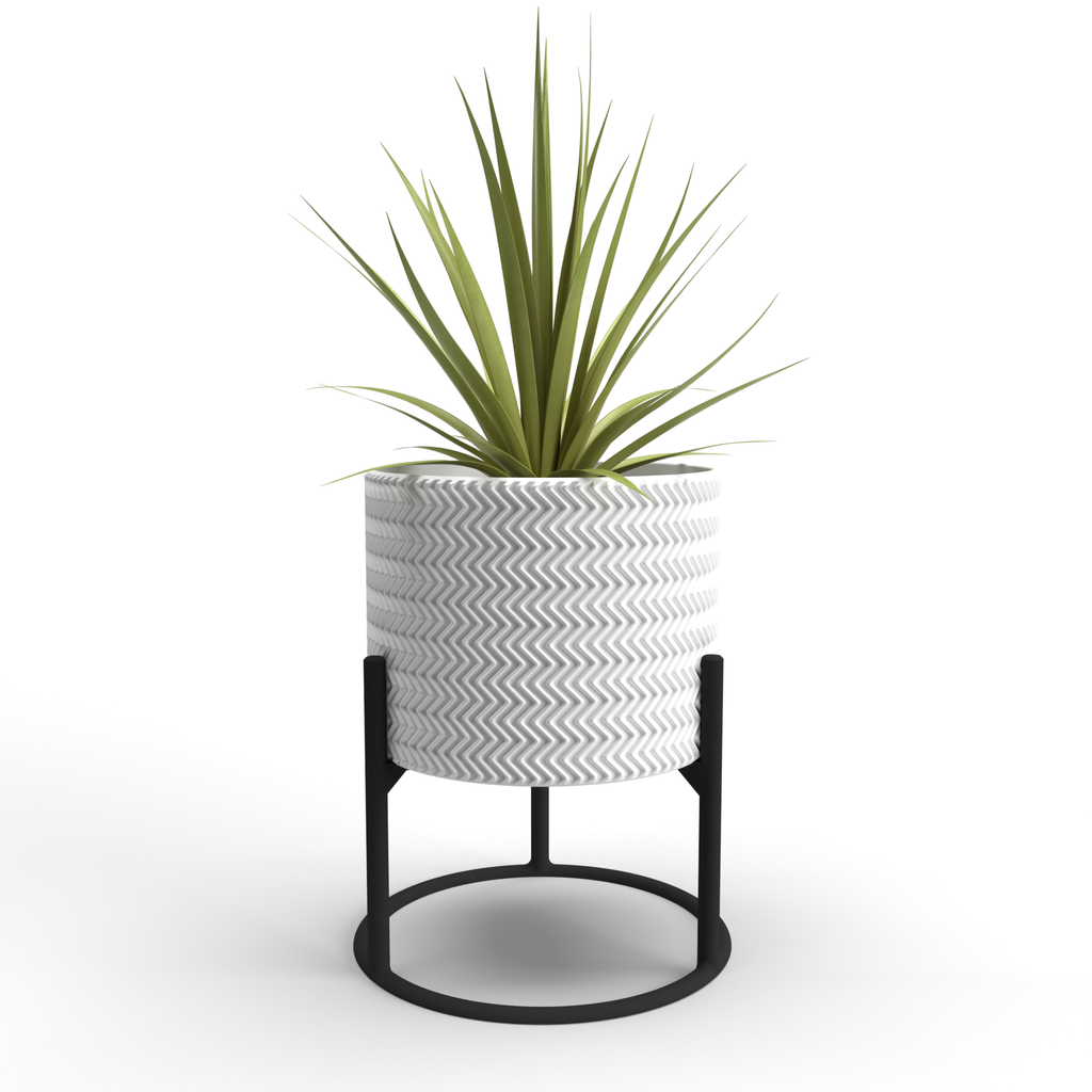 "Zig-Zag Large 7"" Planter + Support"