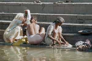 Washing on the Ghats - Limited Edition Print