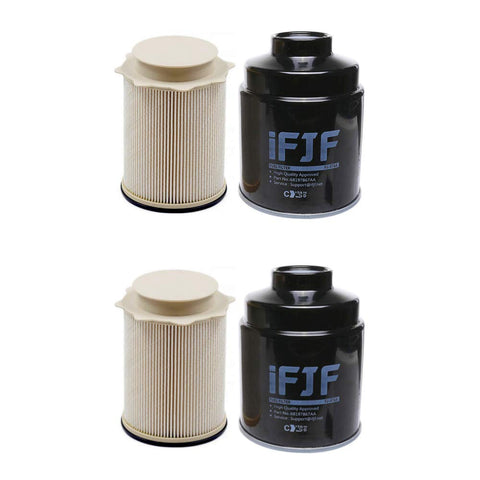 for 6.7 Cummins Diesel Fuel Filter for Dodge Ram 2500 3500 4500 5500 2013 2014 2015 2016 2017 Set of 2 68157291AA 68197867AA