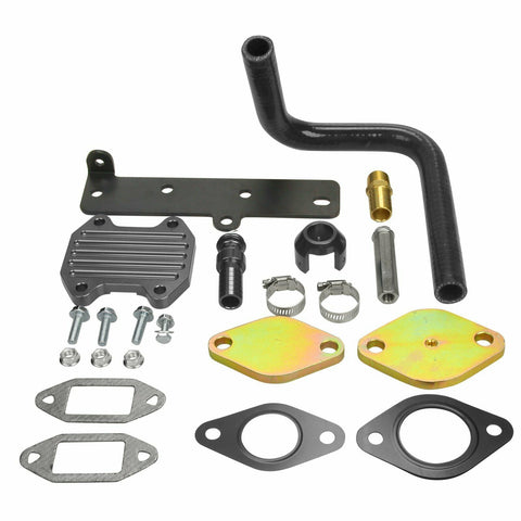6.7 Cummins EGR Delete Cooler Throttle Valve Delete Kit Black for Dodge Ram 6.7L 2013 2014 2015 2016 2017 2018 2019