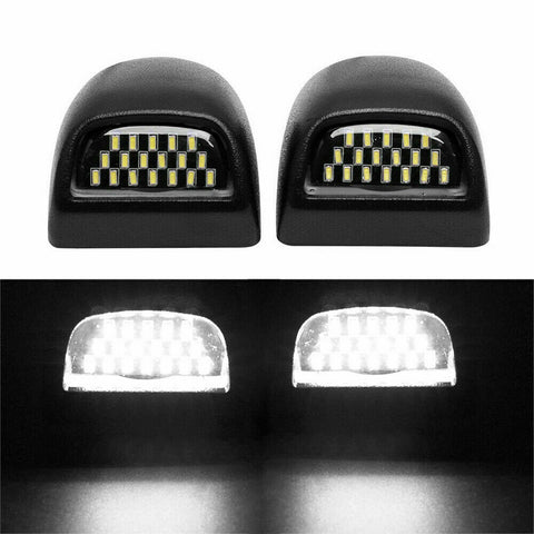 LED License Plate Lamp Bumper Lights 1500 2500HD 3500HD  for 1999-2014 Silverado Sierra