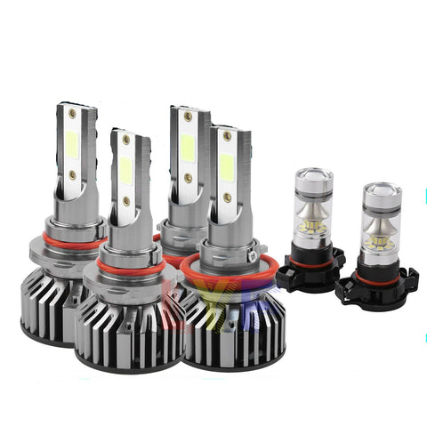 6000K LED Headlight Fog Light Bulbs for Chevy Silverado 1500 2500 3500 2007-2015