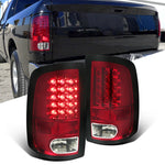 Red LED Tail Lights Rear Brake Lamps for 2009-2018 Dodge Ram 1500 2500 3500